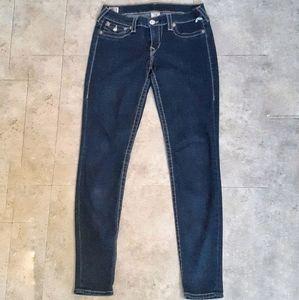 True Religion Misty Low Rise Super Skinny Jeans
